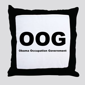 Obama Occupation Government Throw Pillow