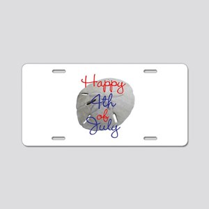 4th of July Sand Dollar Aluminum License Plate