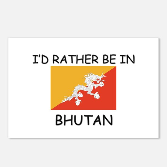 I'd rather be in Bhutan Postcards (Package of 8)