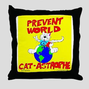 World Catastrophe Throw Pillow