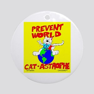 World Catastrophe Ornament (Round)