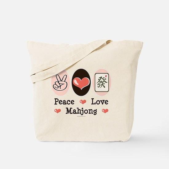 Peace Love Mahjong Tote Bag