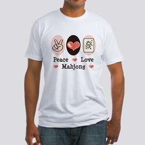 Peace Love Mahjong Fitted T-Shirt