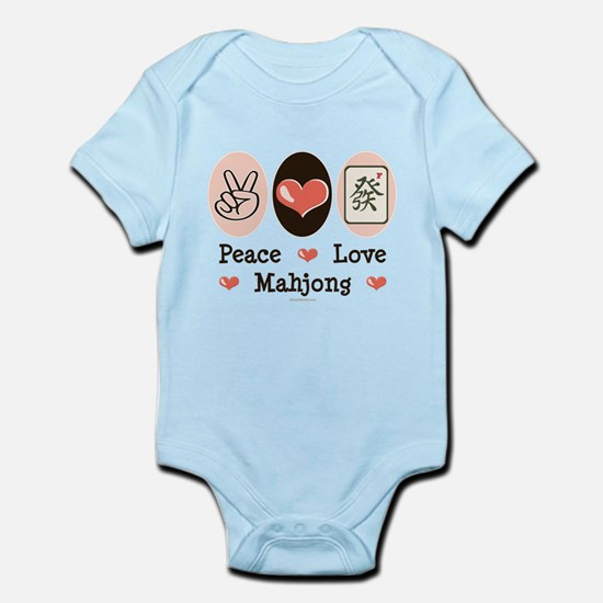Peace Love Mahjong Infant Bodysuit