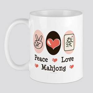 Peace Love Mahjong Mug