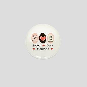 Peace Love Mahjong Mini Button
