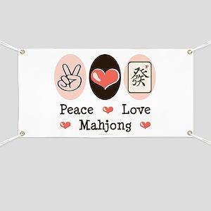 Peace Love Mahjong Banner