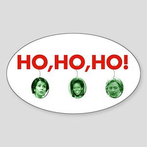 Ho, ho, ho Oval Sticker
