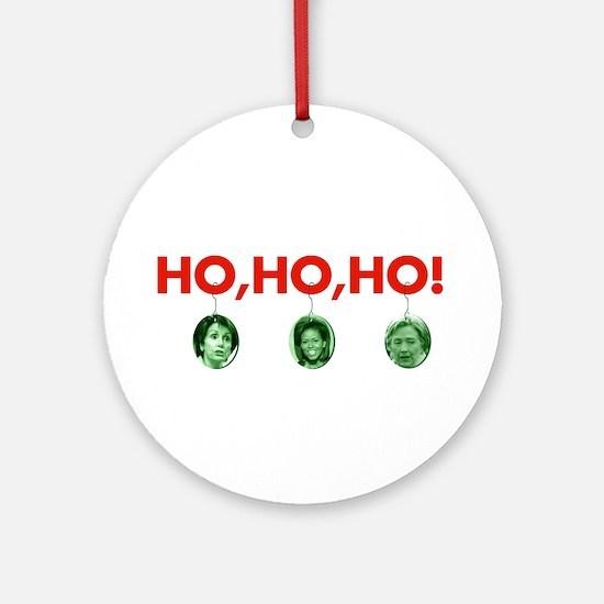 Ho, ho, ho Ornament (Round)