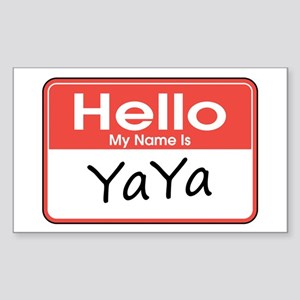 Hello, My name is YaYa Rectangle Sticker
