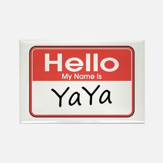 Hello, My name is YaYa Rectangle Magnet
