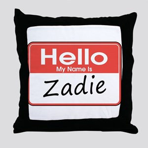 Hello, My name is Zadie Throw Pillow