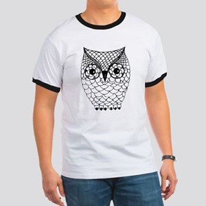 Black and White Owl 2 Ringer T
