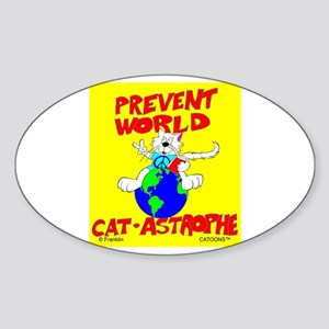 World Catastrophe Oval Sticker