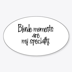 Blonde Moments Oval Sticker