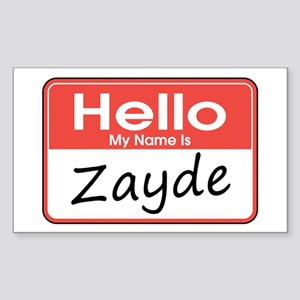 Hello, My name is Zayde Rectangle Sticker