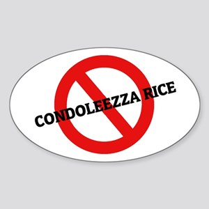 Anti Condoleezza Rice Oval Sticker
