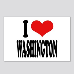 I Love Washington Postcards (Package of 8)