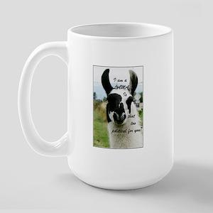 ...and the lama said... Large Mug