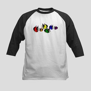Rainbow Bunny Rabbits Kids Baseball Jersey
