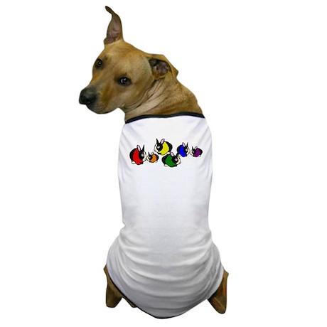 Rainbow Bunny Rabbits Dog T-Shirt