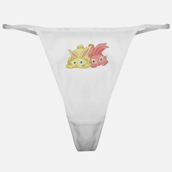 Cute Bunnies Classic Thong