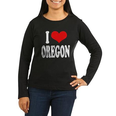 I Love Oregon Women's Long Sleeve Dark T-Shirt