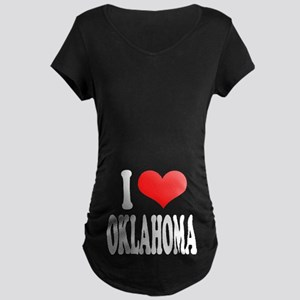 I Love Oklahoma Maternity Dark T-Shirt