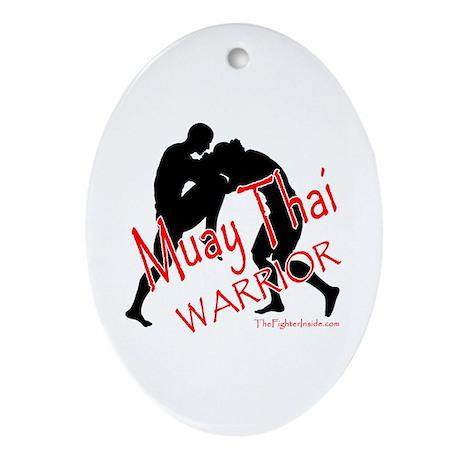 Muay Thai Warrior Oval Ornament