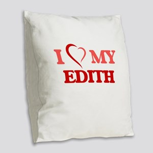 I love my Edith Burlap Throw Pillow