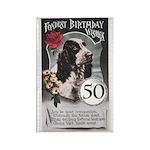 50th Birthday Rectangle Magnet