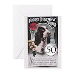 50th Birthday Greeting Cards (Pk of 20)