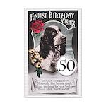50th Birthday Mini Poster Print