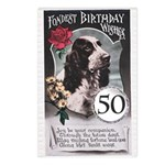 50th Birthday Postcards (Package of 8)