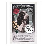 50th Birthday Small Poster