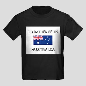 I'd rather be in Australia Kids Dark T-Shirt