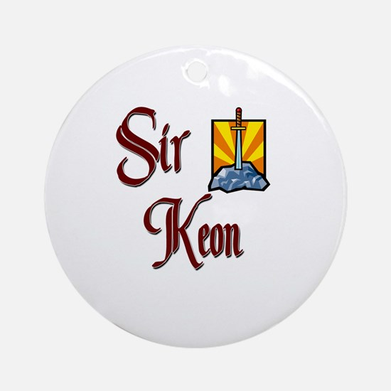 Sir Keon Ornament (Round)