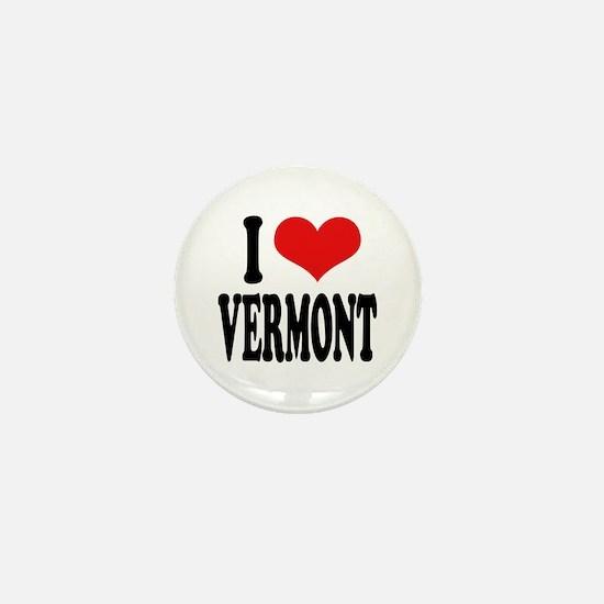 I Love Vermont Mini Button