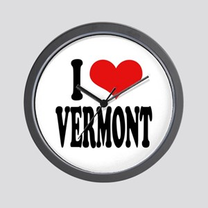 I Love Vermont Wall Clock