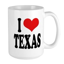I Love Texas Large Mug
