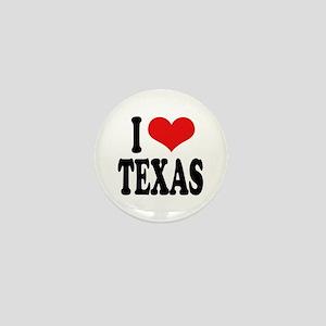 I Love Texas Mini Button