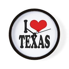 I Love Texas Wall Clock