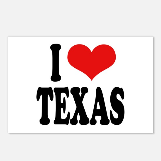 I Love Texas Postcards (Package of 8)