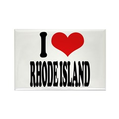 I Love Rhode Island Rectangle Magnet