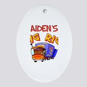 Aiden's Big Rig Oval Ornament