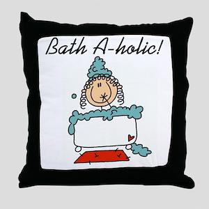 Bath-a-holic Throw Pillow