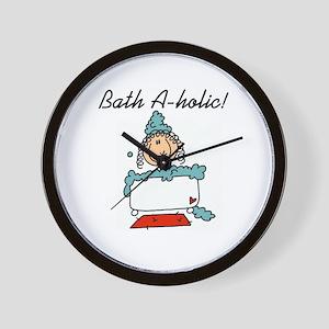 Bath-a-holic Wall Clock