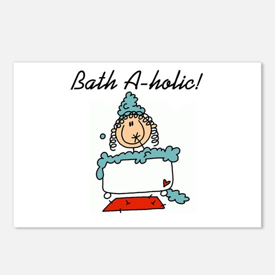 Bath-a-holic Postcards (Package of 8)