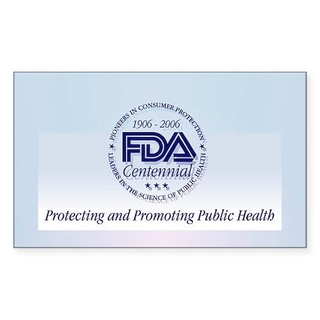 FDA Centennial - Rectangle Sticker 10 pk)