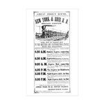 New York & Erie Railroad Rectangle Sticker 10